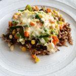 Riz et légumes gratinés