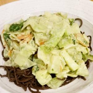 Spaghetti au pesto de fleur d'ail et légumes du Québec