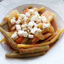 Légumes du Québec, jus de tomates et feta