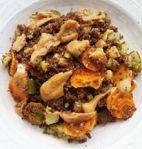 Kaniwa aux légumes et sauce aux arachides